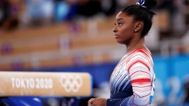 Simone Biles ganó medalla de bronce en los Juegos Olímpicos