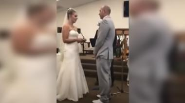 """""""Mi hijo no tiene defectos"""", madre interrumpió boda cuando nuera leía votos"""