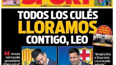Así registraron los diarios españoles la tristeza de Lionel Messi en su despedida de Barcelona