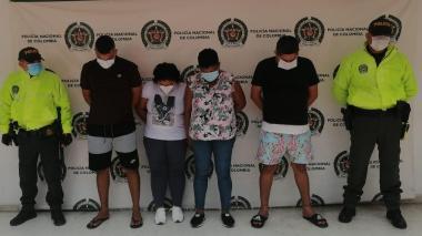 Capturan a cuatro miembros de la banda 'Los del Sur' en Ciénaga, Magdalena