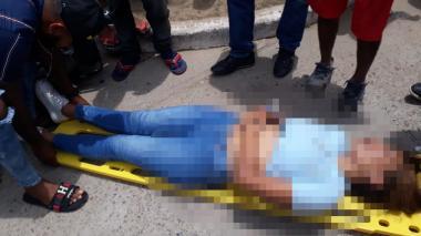 Accidente en Fonseca deja una mujer herida de gravedad
