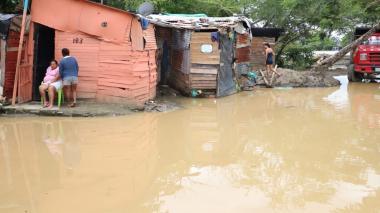 Familias inundadas en Montería fueron evacuadas