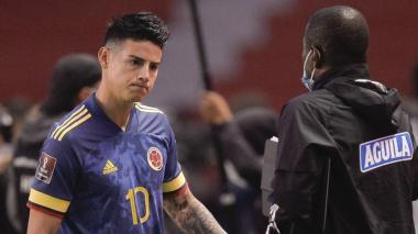 James Rodríguez, otra vez la gran ausencia en la Selección Colombia