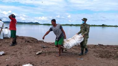Habitantes de Achí, Bolívar, buscan detener cauce del río Cauca
