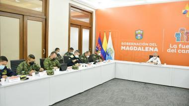 Policía, Ejército y UNP se comprometen con más seguridad para gobernador del Magdalena