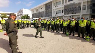 320 policías reforzarán la seguridad en Barranquilla