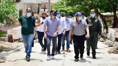 """""""Pavimentación en el corregimiento La Playa es una realidad"""": alcalde Pumarejo"""