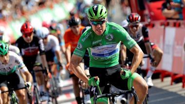 Jakobsen ganó su tercera etapa en La Vuelta a España