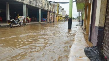 El comercio de San Marcos comenzó a inundarse