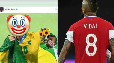 Vidal vs. Richarlison, el cruce que pasó del campo a las redes sociales
