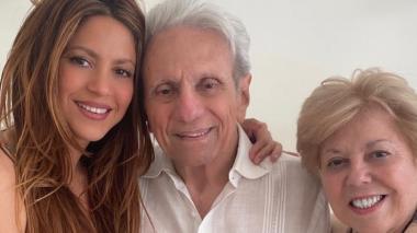 Shakira felicitó a su papá que cumple 90 años