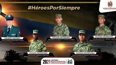 Identifican a militares muertos en ataque con explosivos del Eln en Arauca