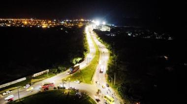 Vía la Cordialidad en Cartagena estrena alumbrado público