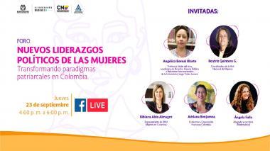Este jueves se lanza la Escuela de Formación Política para Mujeres