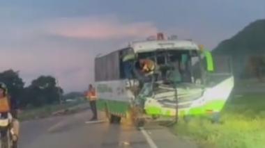 Accidente deja una mujer herida y varios cerdos muertos en Cesar
