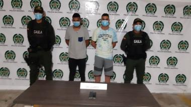 Capturan a dos presuntos extorsionistas en Soledad