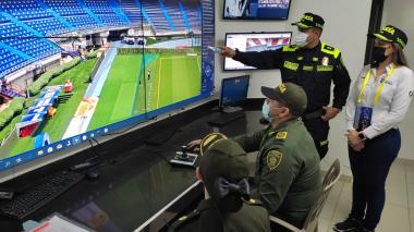 Previo al partido, Alcaldía y Policía realizan recorrido en el 'Metro'