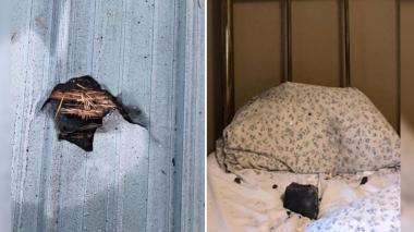 Supuesto meteorito cayó en la almohada de una mujer mientras dormía