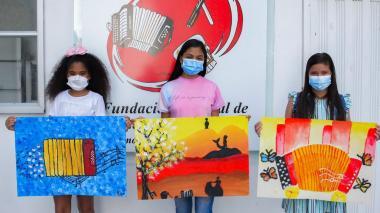Pinceladas de tres niñas brillaron en el concurso de arte del Festivallenato