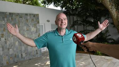 Gianni Infantino, presidente de la Fifa, le dijo en exclusiva a EL HERALDO que para él es positivo tener cinco sustituciones