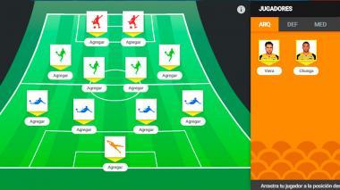Arme aquí su equipo ideal para la final de Junior ante Paranaense