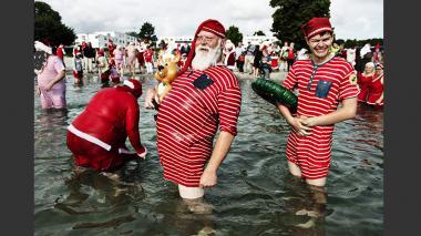 En imágenes: El congreso anual de Papás Noel en Dinamarca