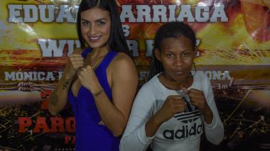 En imágenes | Así fue la presentación de la pelea de la modelo boxeadora