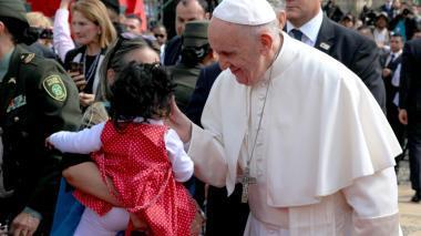 En imágenes | Así se vivió el encuentro del Papa en la Plaza de Armas de la Casa de Nariño