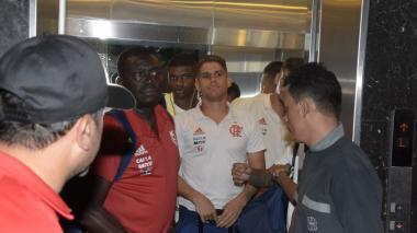 Así fue la llegada del Flamengo a Barranquilla