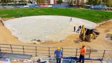 En imágenes   Así avanza la construcción del estadio de sóftbol