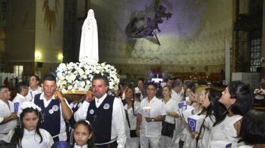 Virgen de Fátima llegó a Barranquilla