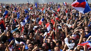 Así celebraron los franceses el título de Rusia-2018