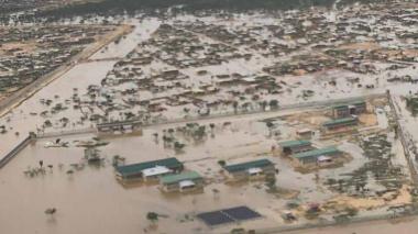 Las impactantes imágenes de Uribia, en emergencia por inundaciones