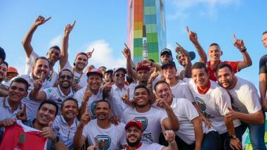 Imágenes de la celebración del triunfo de Titanes en Barranquilla