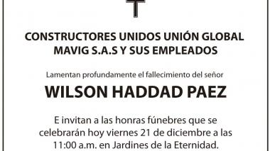 Wilson Haddad Paez