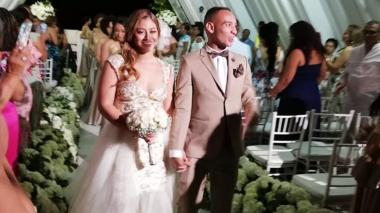 Así fue el matrimonio de Jarlan Barrera en Santa Marta