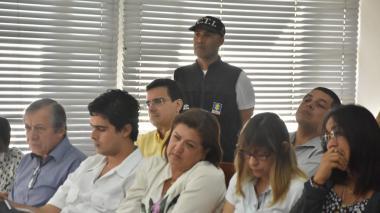 Estas son las imágenes de la audiencia donde fue enviado a la cárcel Ramsés Vargas y  seis exempleados de la UAC