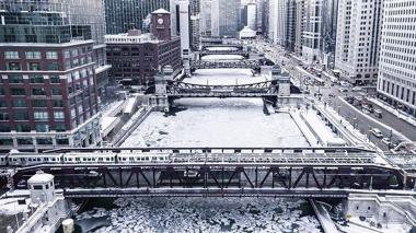 Las impresionantes fotos del frío ártico en Chicago