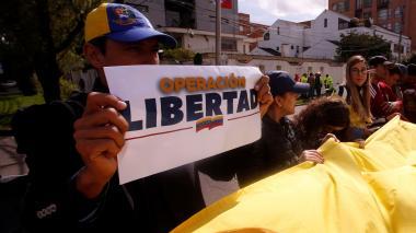 Manifestaciones y concentraciones de venezolanos en Colombia