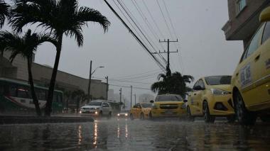 Reportan fuerte aguacero en Barranquilla y su área metropolitana
