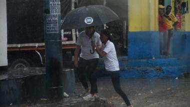 Imágenes de la lluvia de este lunes en Barranquilla