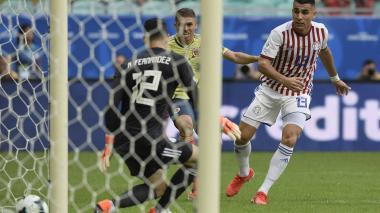 Imágenes del partido entre Colombia y Paraguay en el Arena Fonte Nova