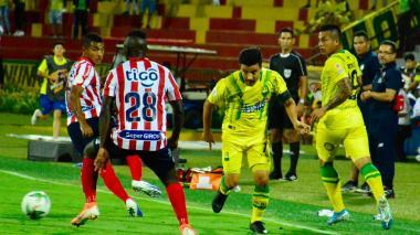 Vea aquí momentos del encuentro entre Junior y Bucaramanga