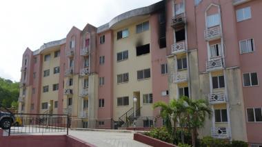 Así quedó la vivienda incendiada en Campo Alegre