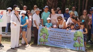 Vecinos del Country vuelven a protestar por tala de árboles