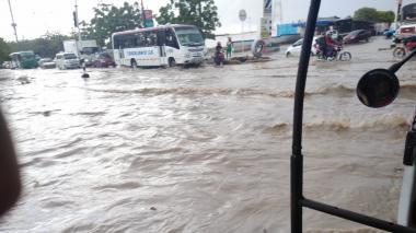 Ciudadanos comparten imágenes de la lluvia desde distintos sectores de Barranquilla y Soledad