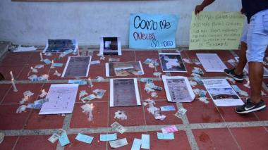 Plantón en Soledad por presunta compra de votos para Alcaldía