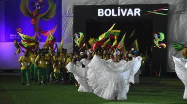 Algunas imágenes de la inauguración de los Juegos Nacionales 2019