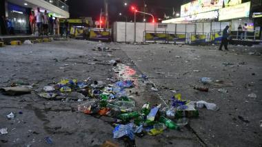 Así quedaron las calles tras el disturbio presentado a las afueras de La Troja