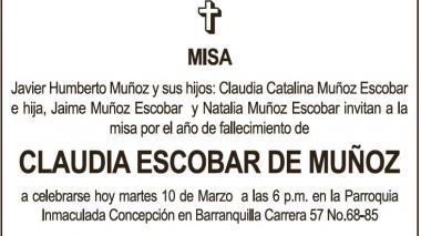 Claudia Escobar de Muñoz